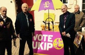 UKIP's Dave Woodhead, John Rackham, Jeff Sheriff and Tom Lenton