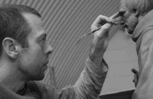 Peter Walker working on his St Chad sculpture. Pic: Peter Walker