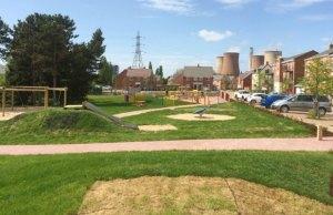The new Hawksyard play area
