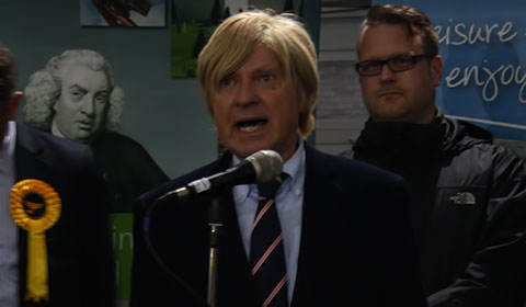 Michael Fabricant gives his victory speech