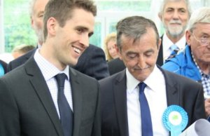 Ben Rayner with Lichfield and Burntwood Conservative leader Mike Wilcox