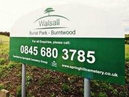 Walsall Burial Park