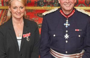 Ashley Hall with the Lord-Lieutenant, Ian Dudson CBE CStJ