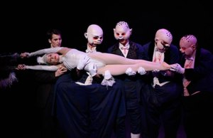 Jenna Roberts as Roast Swan with performers from Birmingham Royal Ballet. Pic: Bill Cooper