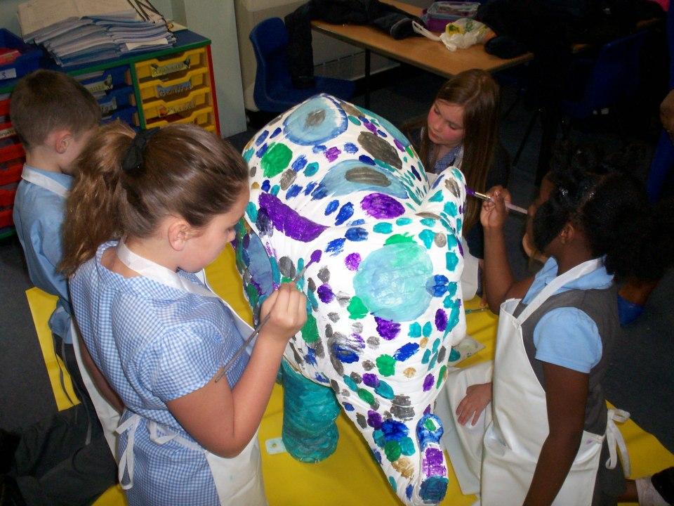 Blue-Coat-School-Walsall-elephant-painting-2