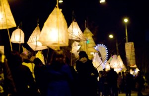 A lantern parade in Burntwood