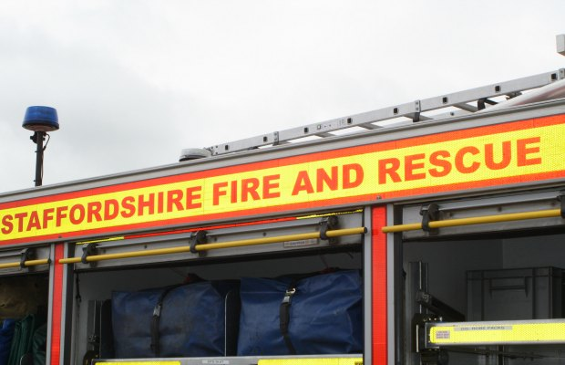 A Staffordshire Fire and Rescue Service engine