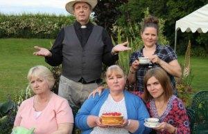 Entertaining Angels stars Brian Asbury, Nicola Peace, Ruth Hawkins, Sue Carter and Christine Kernahan