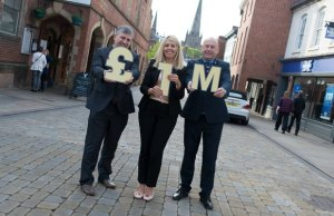 Simon Lumb, Michelle Baker and Paul Maddox give their support to the Lichfield BID