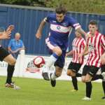 James Dance tries to start a break for Chasetown. Pic: Dave Birt