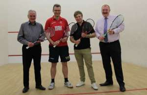 Representatives from Lichfield Squash Club and Tempest Ford