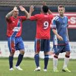 Marco Adaggio celebrates his goal. Pic: Dave Birt