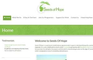 The new Seeds of Hope website