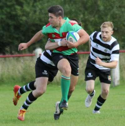 Owen Rookyard tries to break away. Pic: Joanne Gough