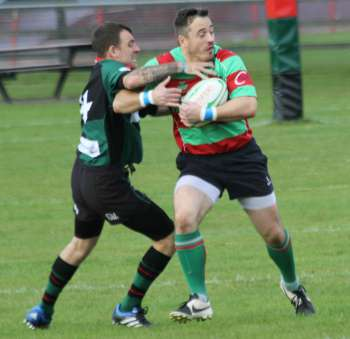 Danny Duggan bursts through a challenge. Pic: Joanne Gough