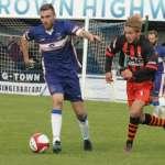 Richard Davies on the ball. Pic: Dave Birt