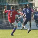 Chasetown win a penalty. Pic: Dave Birt