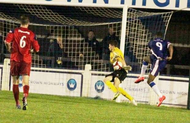 Nathan Waite is denied. Pic: Dave Birt