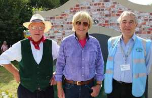 Eric Wood, Michael Fabricant MP and Brian Kingshott at the Huddlesford Heritage Gathering
