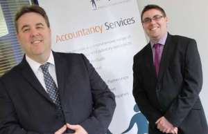 Inspired Accountants director Steven Payton and managing director Paul Bulzacchelli