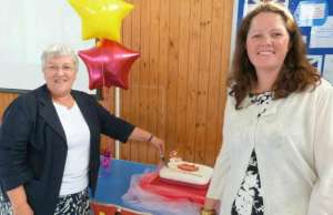Cllr Sue Woodward and Esther Allen at the Spark launch