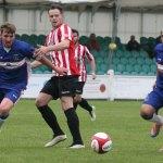 Joe Halsall and Simon Brown chase down the ball. Pic: Dave Birt