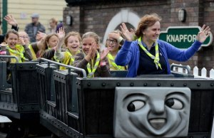 Brownies on the Troublesome Trucks ride at Drayton Manor