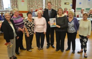 Police and Crime Commissioner Matthew Ellis with members of Stonnall Women's Institute