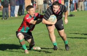 Luke Rookyard tries to break away. Pic: Joanne Gough