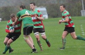 David Ward comes under pressure. Pic: Joanne Gough