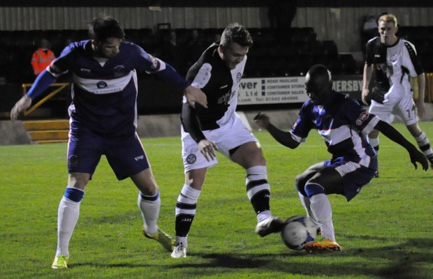 Action from Hednesford Town v Chasetown. Pic: Pamela Mullins