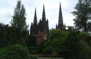 Lichfield Cathedral from Minster Pool. Pic: Andy Malbon