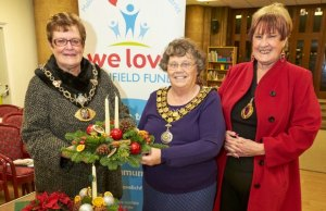 Cllr Maureen Gant (Mayor of Tamworth, Lichfield District Council chairman Cllr Norma Bacon, and Cllr Angela Underhill (Mayor of Walsall MBC)