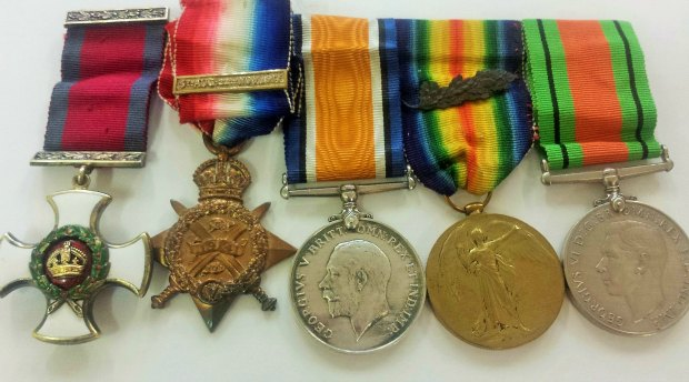 Some of the returned medals