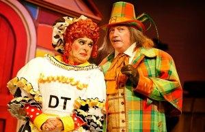 Ian Adams as Dame Trott and Graham Cole as Hemlock