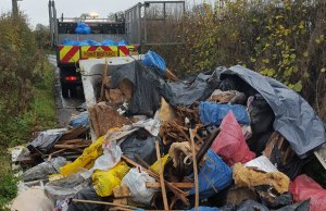 Work begins to clean up the rubbish dumped in Chorley