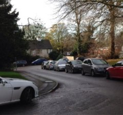 Cars parked around the Beacon Street area. Pic: BSARA