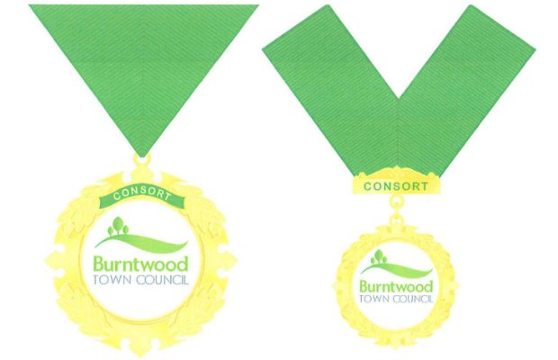 Two of the designs being considered for the new Consort's chain