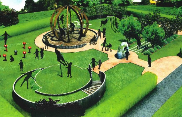 An artist's impression of the new National Memorial Arboretum play area