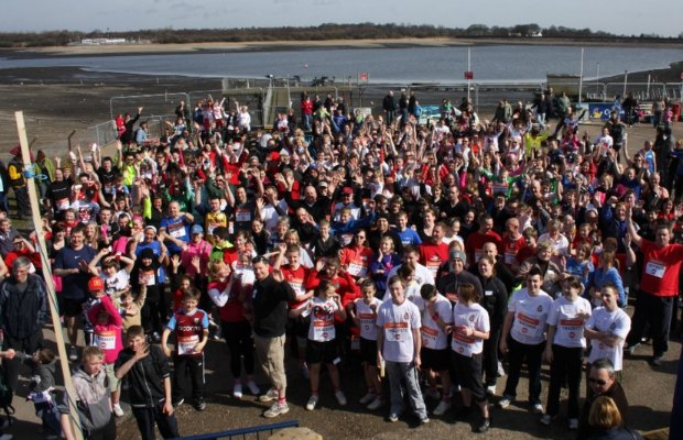 Participants at a previous Sport Relief Mile at Chasewater
