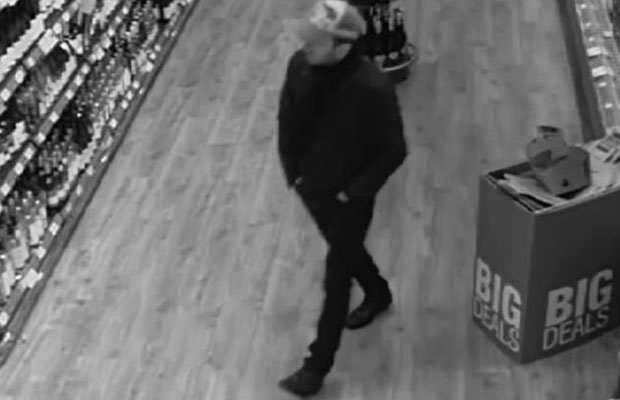 The man caught on CCTV in the Co-op store on Boley Park