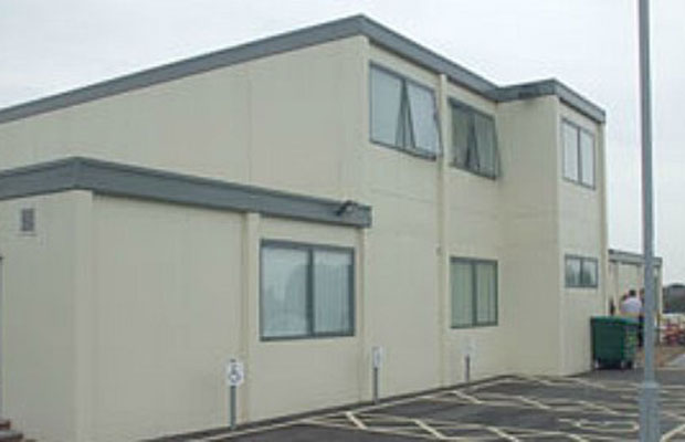 The temporary Health and Wellbeing Centre in Burntwood