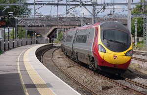 A Virgin Trains service passing through Lichfield Trent Valley. Pic: Matt Buck
