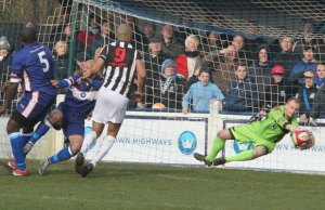 John Bateman pulls off a smart save. Pic: Dave Birt