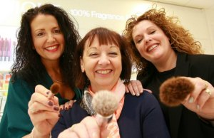 Debenhams store manager Rachel Anslow, Lichfield Ladies Tangle chairman Sue Jay and Alice Reeve of Francesco's Hair Salon