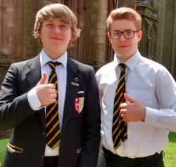Jake Wright and Tom Hodgkiss