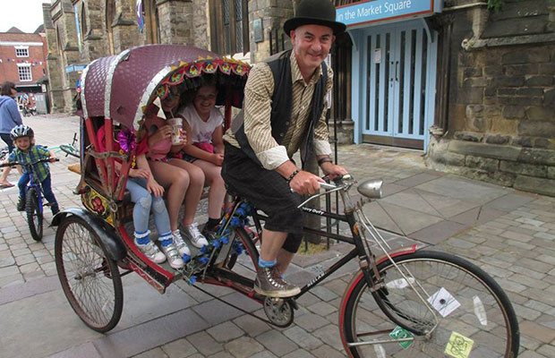 A cyclist on The Lichfield Jolly