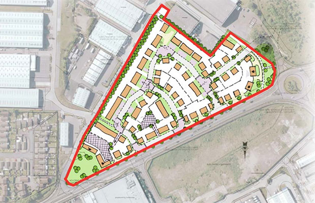 The proposed layout of the new homes off Milestone Way