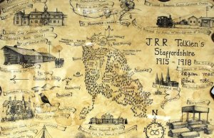JRR Tolkien's map of Staffordshire