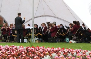 The City of Lichfield Concert Band playing in Beacon Park
